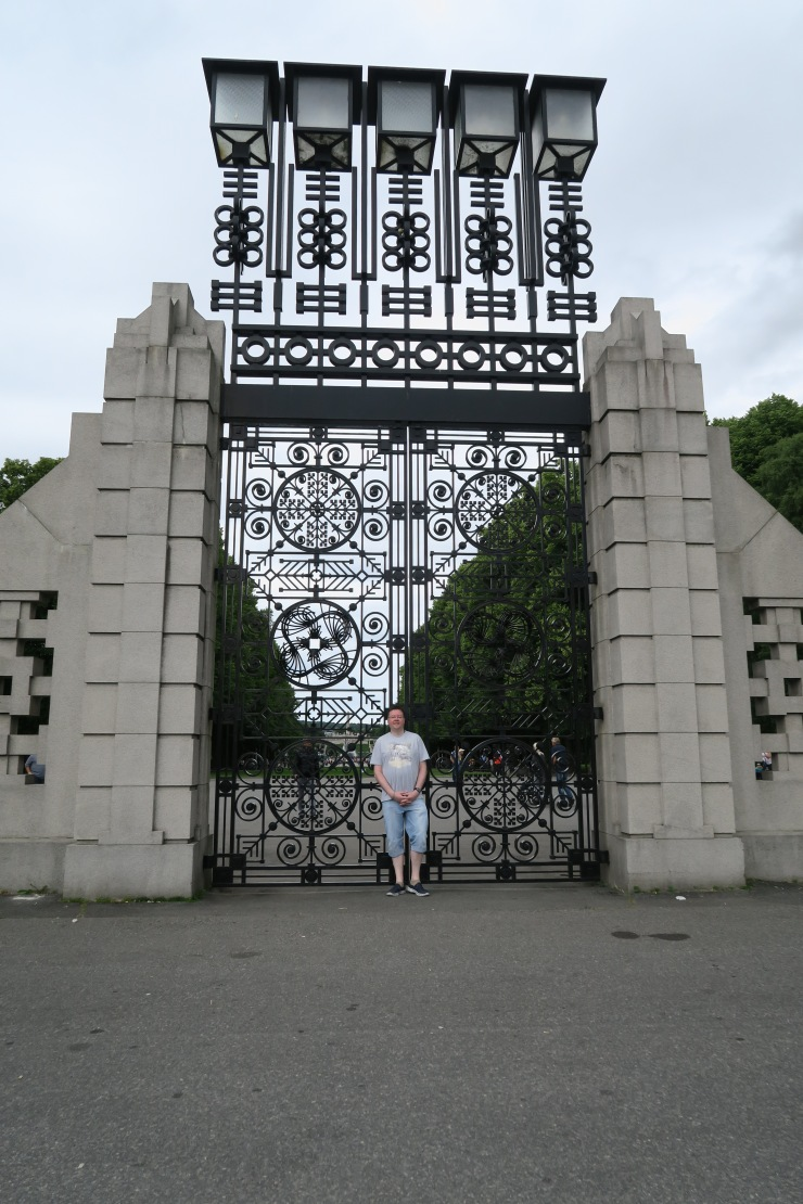 Oslo - June 2017 - The Vigeland Park Jason and gate
