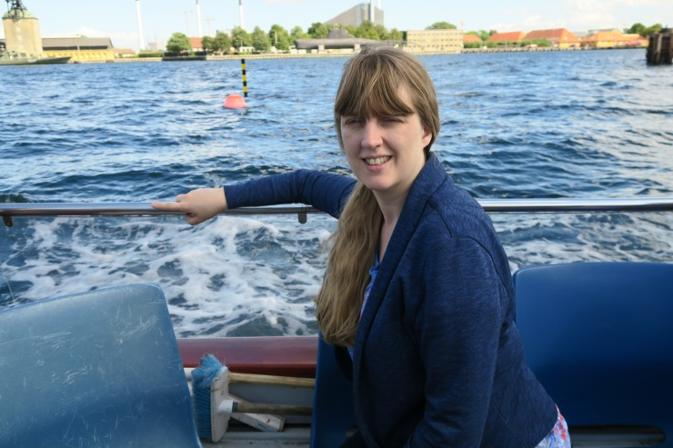 Copenhagen - June 2017 - Joanne on canal boat