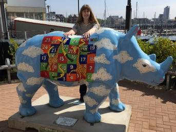Britannia May 2016 Southampton me and Rhino