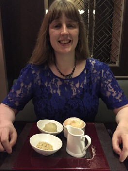 Britannia May 2016 me and apple dessert
