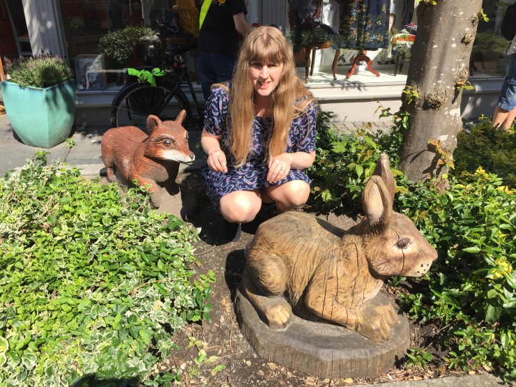 Stavanger - May 2016 - Joanne and wooden animals
