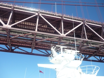 Independence of the Seas 30 June 2012 Lisbon bridge