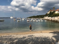 P&O Oceana - Hvar Oct 2017 - Joanne on beach