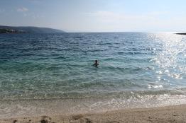 P&O Oceana - Oct 2017 Split - Joanne in sea