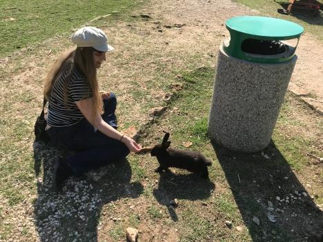 P&O Oceana - Sept 2017 Dubrovnik - Joanne and rabbit
