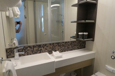 Symphony of the Seas - on board April 2018 - our cabin bathroom