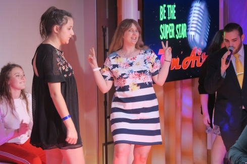 Symphony of the Seas - Florence/Pisa April 2018 - Joanne Be the Super Star Gameshow