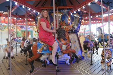 Symphony of the Seas - on board April 2018 - Carousel horse