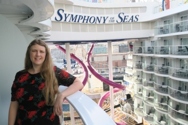 Symphony of the Seas - Naples/Capri April 2018 - Joanne formal night on balcony
