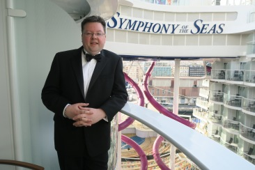 Symphony of the Seas - Naples/Capri April 2018 - Jason formal night on balcony