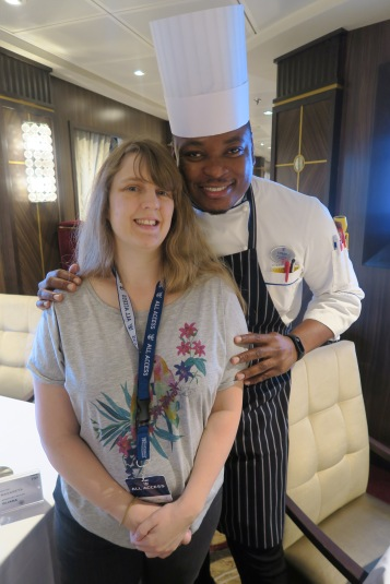Symphony of the Seas - at sea April 2018 - all access tour Joanne and chef