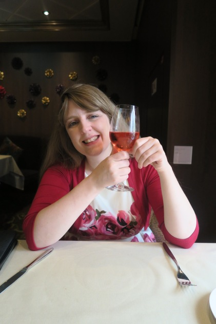 Symphony of the Seas - at sea April 2018 - 150 Central Park Joanne and drink
