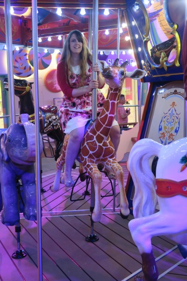 Symphony of the Seas - on board April 2018 - Carousel giraffe