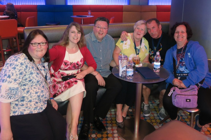 Symphony of the Seas - at sea April 2018 - us with our gang of quiz friends