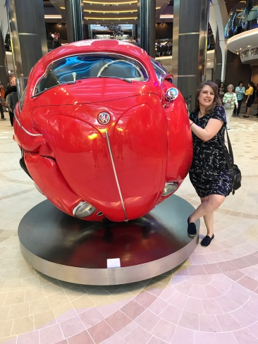 Symphony of the Seas - on board April 2018 - Joanne and the car