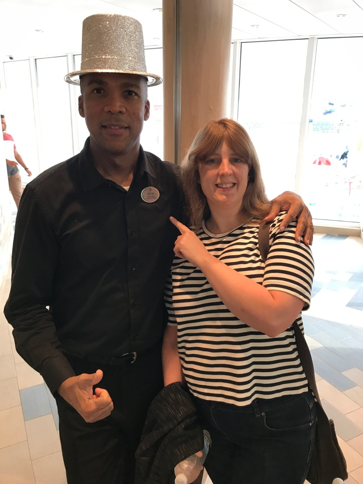 Symphony of the Seas - at sea April 2018 - Joanne and waiter