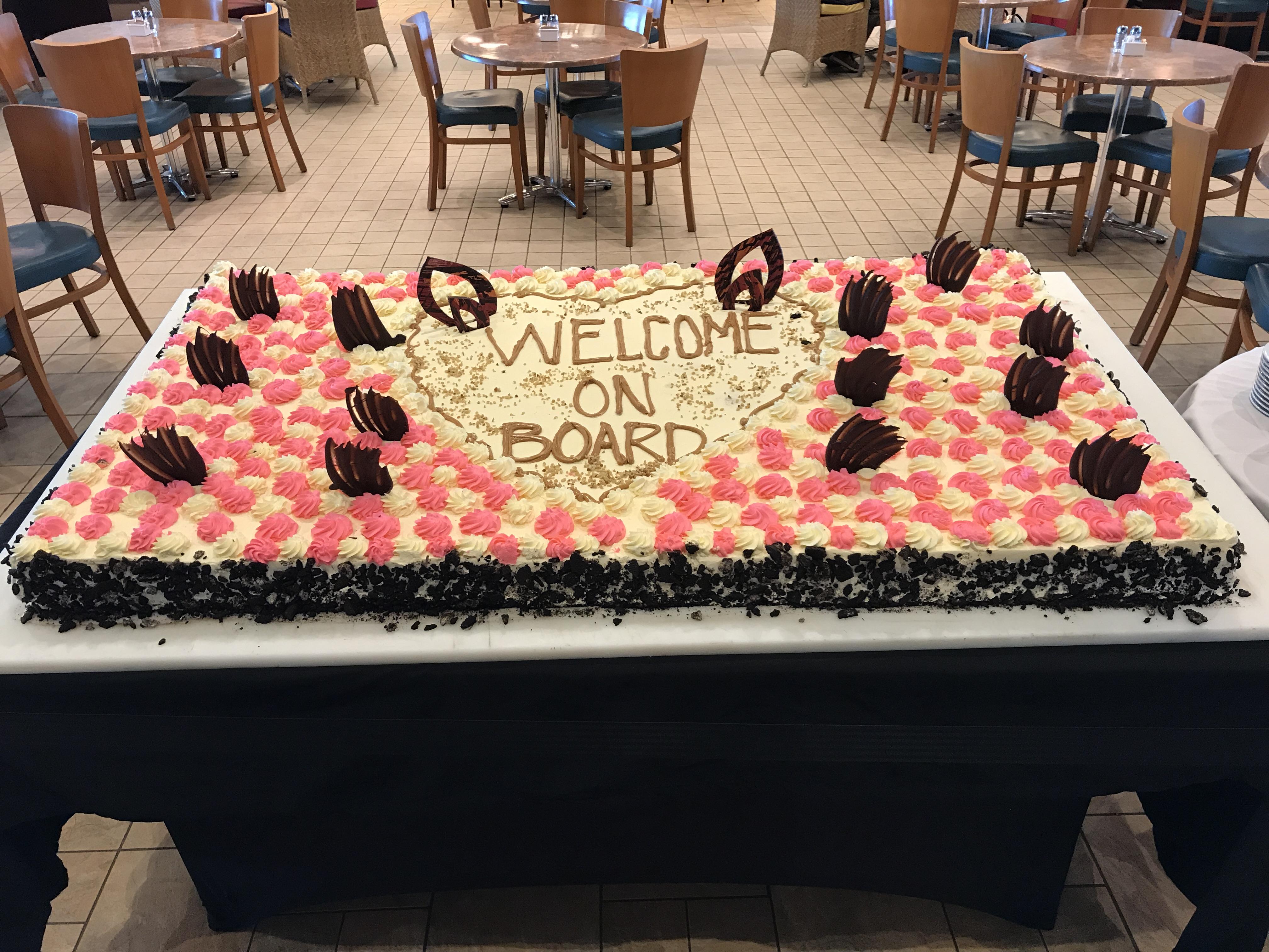 Navigator of the Seas September 2018 cake