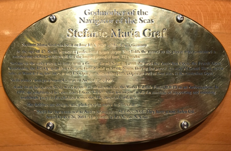 Navigator of the Seas September 2018 name plaque