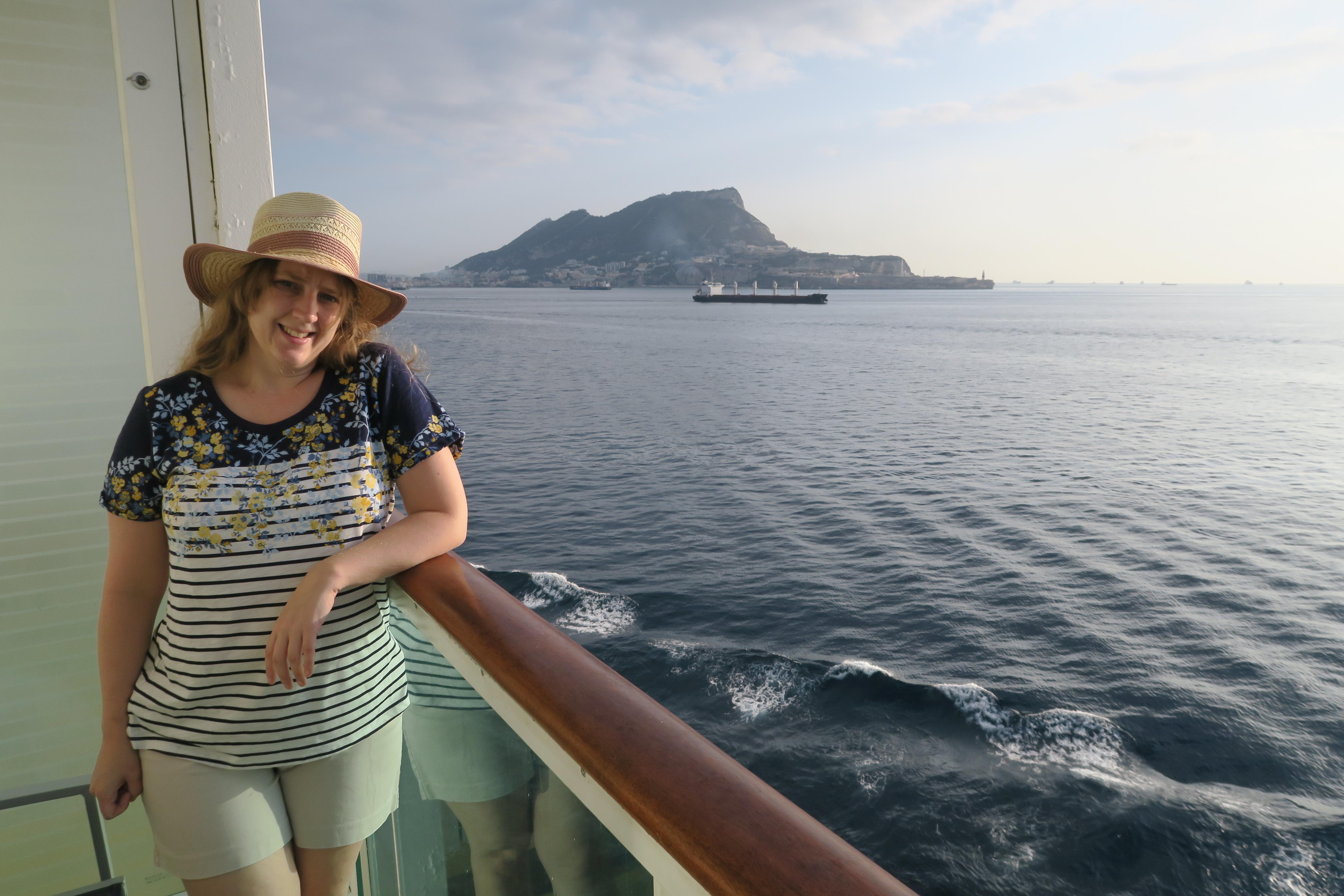 Navigator of the Seas September 2018 me arriving Gilbralter